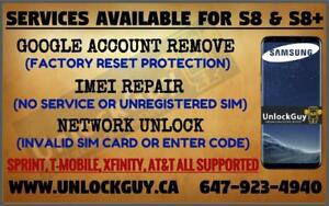SAMSUNG GALAXY S8 S8+ *NO SERVICE* *UNREGISTERED SIM* *NETWORK FIX* | GOOGLE ACCOUNT REMOVE | SPRINT & T-MOBILE UNLOCK