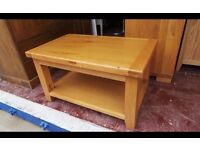 Solid Oak Coffee Table | Rustic Light Oak Living Room Furniture,Can Deliver