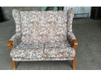 Vintage Wing Back 2 Seater Sofa