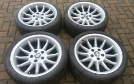 RARE BMW 8 SERIES 18 ALLOY WHEELS CRAZY CONCAVE 5 6 7 SERIES CHEVY PONTIAC ETC