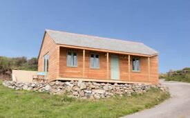 Stunning Cliff Top Cabin Cornwall with sea views 30% off Late Deal - sleeps 2 / 4 £495 per week
