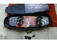 Black O'Brien wakeboard with travel case 135cm in length