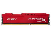 HyperX FURY Series 4 GB DDR3 1600 MHz CL10 DIMM Memory Module - Red (BARGAIN)