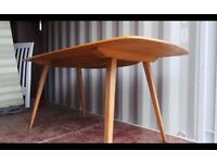 Nice Retro Ercol Plank Dining Table - Vintage Elm Light Blonde Table Seats 6,Delivery