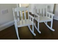 Two ikea sundvik children's rocking chairs