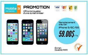 Réparation écran iPhone à partir de 59$, Rapide 100% garanti