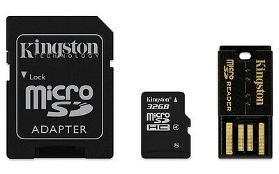 Kingston MBLY4G2/32GB Gen 2 Multi Kit (Class4 microSD+SD adapter+USB reader),NEW