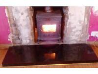 Fire stove wood burner living room log