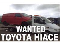 Toyota Hiace power van wanted!!!