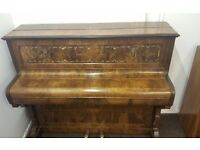 Ornate Eavestaff Upright Piano With Sconces!