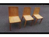 3 X Oak Kitchen Chairs