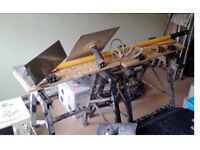 Pair of trestle tables/saw horses