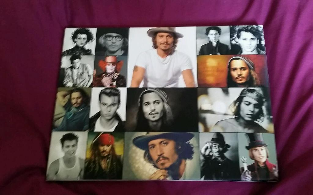 Canvas with Johnny Depp