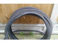 3 used bicycle tyres 2 inner tube 700×40c