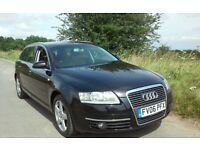 CHEAP 2006 AUDI A6 2.0 TDi SE ESTATE DIESEL BLACK 1 YEARS MOT 55 + MPG FULL HISTORY CHEAP TAX