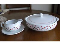 'Poppies' Serving Bowl & Gravy Boat