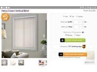 Helva cream vertical blinds x 3