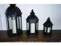 Set of 3 lanterns