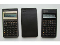 2 x Hewlett Packard business calculators (HP 17Bii and HP 10B)