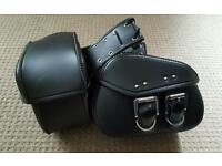 Motorcycle leather panniers