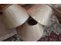 THREE BRAND NEW LAMP SHADES IN SELLOPHANE WRAPPING