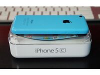 APPLE IPHONE 5C 8GB BLUE UNLOCKED TO ORANGE T MOBILE EE VIRGIN,MINT CONDITION BOXED AS NEW