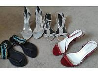4 pairs of sandals size 7