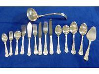 90 pieces Silver cutlery - Kings pattern - Newbridge & Sheffield - VERY CHEAP!
