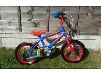 "Kids Spiderman 14"" wheel bike"
