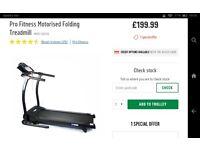 Treadmill bought october