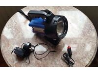 Rechargeable Torch 1 Million Candle Power mains/car adapter inc- Used