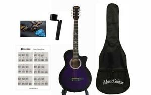 Christmas Gift ! Free Shipping ! Premium Grade Acoustic Guitar For Beginners iMusic805 Purple with Soft bag, 3 picks