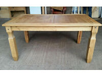 Solid Mexican Pine Corona Dining Table