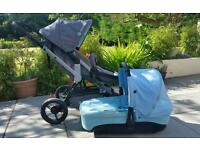 Concord Wanderer pushchair plus carry cot