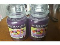 Two Large Yankee Candles Jelly Bean