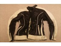 Women's RST leather motorcycle motorbike jacket size 14
