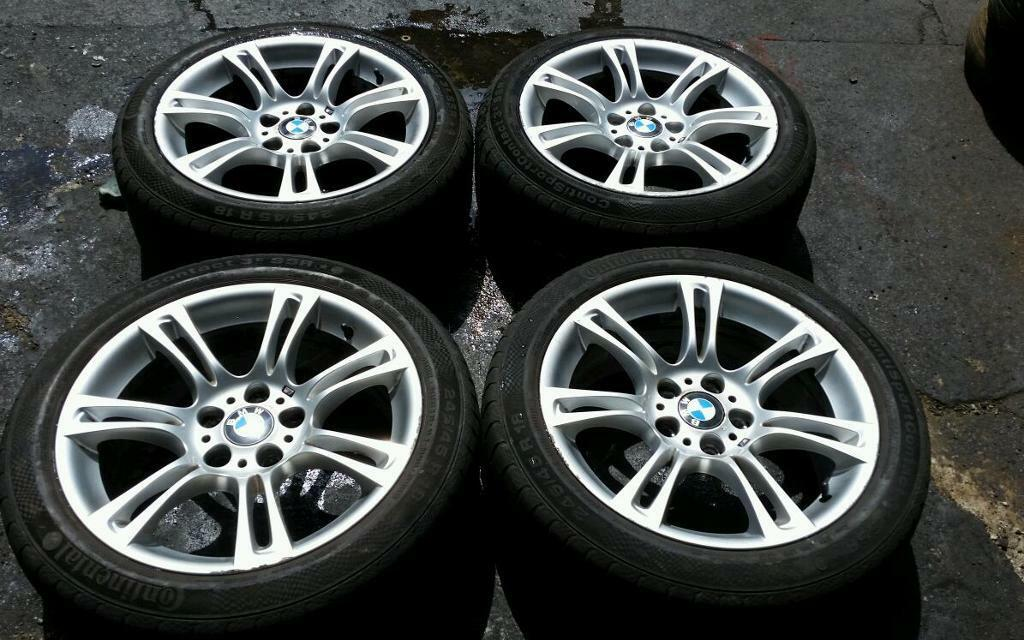 Bmw 18 Inch Msport Alloy Wheels And Tyres F10 E60 E61