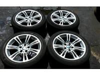 BMW 18 inch MSport alloy wheels and tyres *f10 e60, e61, e90, e91, e92, e46 5x120