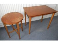 Teak Coffee Table with Folding Side Table - £25 for the two
