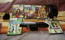 Xbox 360 Kinect Sensor with 5 games and TV mount