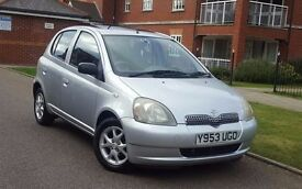 2001 Toyota Yaris 1.3 VVT-i 16v CDX 5dr **S/H+1 OWNER+IMMACULATE**