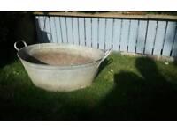 Galvanized bath