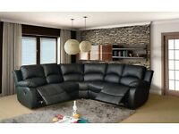 ZARA RECLINER CORNER SOFA AND 3 AND 2 SEATER