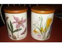 Portmerion tes/coffee jars/canisters