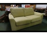 4 month old! Lime Green Fabric 2 Seater Sofa Bed,As New!Rpr £659Can Deliver