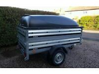 Sold Sold Brenderup New Car trailer 1205s +extension sides+Abs lid.