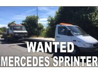 MERCEDES SPRINTER 208D - 308D - 310D -312D - VANS WANTED ANY CONDITION