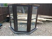 Wooden double glazed bay window