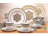 "Creatable ""Majestosa"" Dinner Ware Set, Porcelain, Multi-Colour, Set of 30"