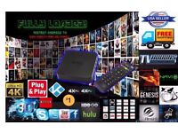 Latest 4K Quad Core Smart Android TV Box,Kodi,Browser,Hollywood,Movies,Channels,Sport,Kids,Bollywood